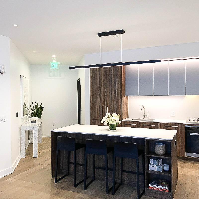 new condo kitchen at mira sf