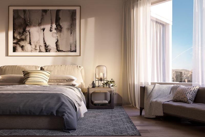 mira sf condo bedroom