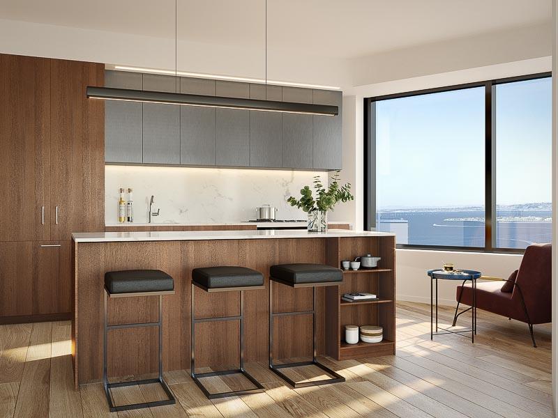 new sf condo kitchen view