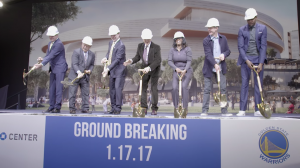Golden State Warriors Chase Arena Groundbreaking