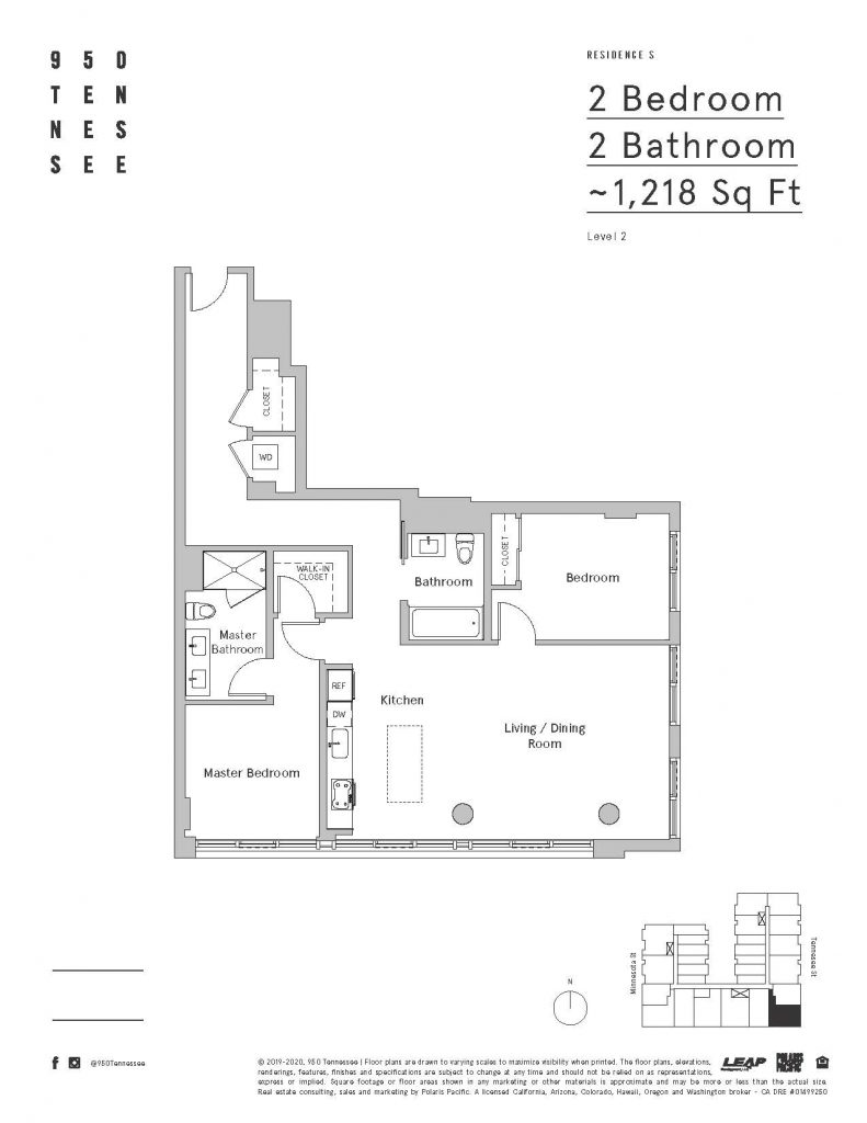950 tennesee 2 bedroom floor plan