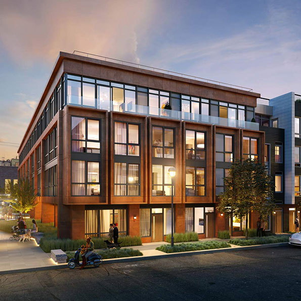 950 Tennessee in Dogpatch rendering of the condominiums and facade